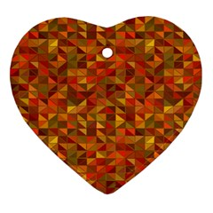 Gold Mosaic Background Pattern Ornament (heart) by Nexatart
