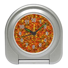 Gold Mosaic Background Pattern Travel Alarm Clocks by Nexatart