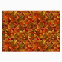 Gold Mosaic Background Pattern Large Glasses Cloth (2 Side) by Nexatart