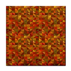 Gold Mosaic Background Pattern Face Towel by Nexatart