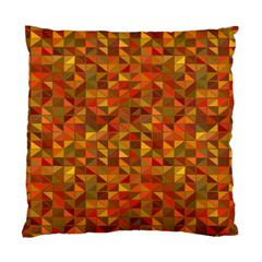 Gold Mosaic Background Pattern Standard Cushion Case (two Sides) by Nexatart