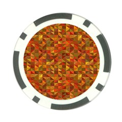 Gold Mosaic Background Pattern Poker Chip Card Guard (10 Pack) by Nexatart