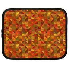 Gold Mosaic Background Pattern Netbook Case (xl)  by Nexatart
