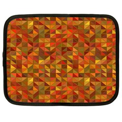 Gold Mosaic Background Pattern Netbook Case (xxl)  by Nexatart