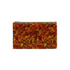 Gold Mosaic Background Pattern Cosmetic Bag (small)  by Nexatart