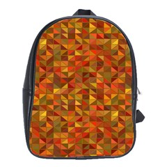 Gold Mosaic Background Pattern School Bags(large)  by Nexatart