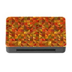 Gold Mosaic Background Pattern Memory Card Reader With Cf by Nexatart