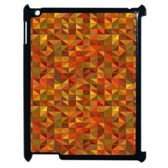 Gold Mosaic Background Pattern Apple Ipad 2 Case (black)