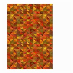 Gold Mosaic Background Pattern Small Garden Flag (two Sides) by Nexatart