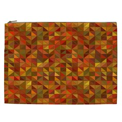 Gold Mosaic Background Pattern Cosmetic Bag (xxl)  by Nexatart