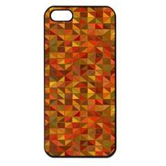 Gold Mosaic Background Pattern Apple Iphone 5 Seamless Case (black)