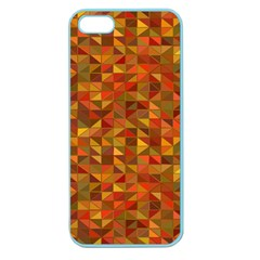 Gold Mosaic Background Pattern Apple Seamless Iphone 5 Case (color)