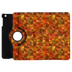 Gold Mosaic Background Pattern Apple Ipad Mini Flip 360 Case by Nexatart