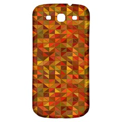 Gold Mosaic Background Pattern Samsung Galaxy S3 S Iii Classic Hardshell Back Case by Nexatart