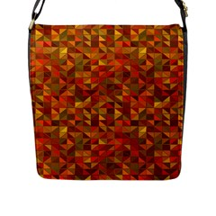 Gold Mosaic Background Pattern Flap Messenger Bag (l)