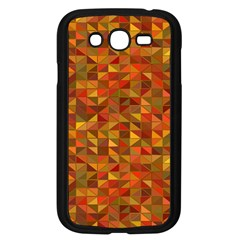Gold Mosaic Background Pattern Samsung Galaxy Grand Duos I9082 Case (black) by Nexatart