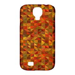 Gold Mosaic Background Pattern Samsung Galaxy S4 Classic Hardshell Case (pc+silicone) by Nexatart