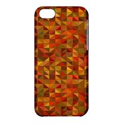 Gold Mosaic Background Pattern Apple Iphone 5c Hardshell Case by Nexatart