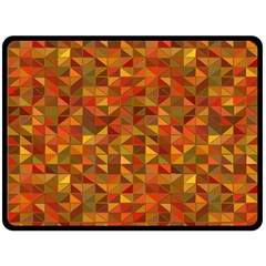 Gold Mosaic Background Pattern Double Sided Fleece Blanket (large)  by Nexatart