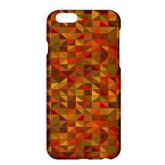 Gold Mosaic Background Pattern Apple Iphone 6 Plus/6s Plus Hardshell Case by Nexatart