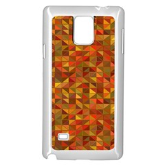 Gold Mosaic Background Pattern Samsung Galaxy Note 4 Case (white) by Nexatart