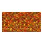 Gold Mosaic Background Pattern Satin Shawl Front