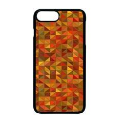 Gold Mosaic Background Pattern Apple Iphone 7 Plus Seamless Case (black) by Nexatart