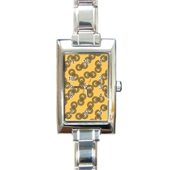 Abstract Shapes Links Design Rectangle Italian Charm Watch