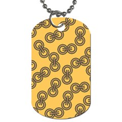 Abstract Shapes Links Design Dog Tag (two Sides)