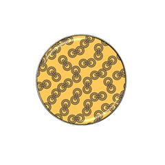 Abstract Shapes Links Design Hat Clip Ball Marker (4 Pack) by Nexatart