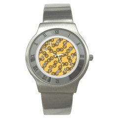 Abstract Shapes Links Design Stainless Steel Watch by Nexatart