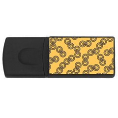 Abstract Shapes Links Design Usb Flash Drive Rectangular (4 Gb)