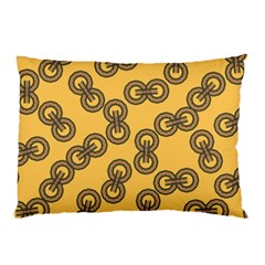 Abstract Shapes Links Design Pillow Case by Nexatart