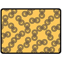 Abstract Shapes Links Design Fleece Blanket (large)  by Nexatart