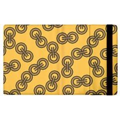 Abstract Shapes Links Design Apple Ipad 2 Flip Case by Nexatart
