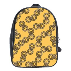 Abstract Shapes Links Design School Bags (xl)  by Nexatart