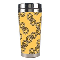 Abstract Shapes Links Design Stainless Steel Travel Tumblers by Nexatart