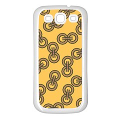 Abstract Shapes Links Design Samsung Galaxy S3 Back Case (white)