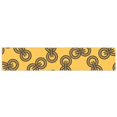 Abstract Shapes Links Design Flano Scarf (small)