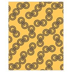 Abstract Shapes Links Design Drawstring Bag (small) by Nexatart