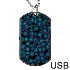 Background Abstract Textile Design Dog Tag Usb Flash (two Sides) by Nexatart