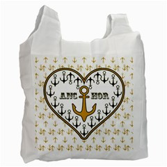 Anchor Heart Recycle Bag (one Side)