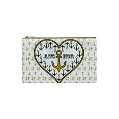 Anchor Heart Cosmetic Bag (small)  by Nexatart