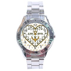 Anchor Heart Stainless Steel Analogue Watch