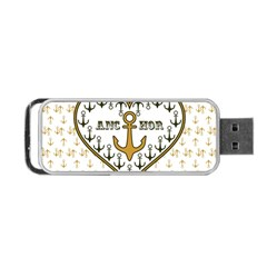 Anchor Heart Portable Usb Flash (two Sides) by Nexatart