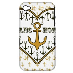 Anchor Heart Apple Iphone 4/4s Hardshell Case (pc+silicone) by Nexatart
