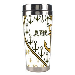 Anchor Heart Stainless Steel Travel Tumblers by Nexatart
