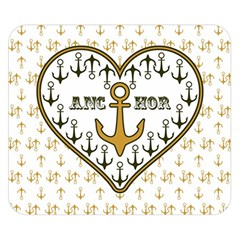 Anchor Heart Double Sided Flano Blanket (small)  by Nexatart