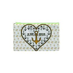 Anchor Heart Cosmetic Bag (xs)