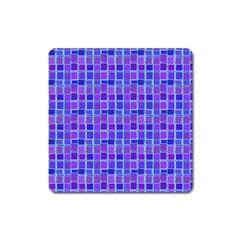 Background Mosaic Purple Blue Square Magnet by Nexatart